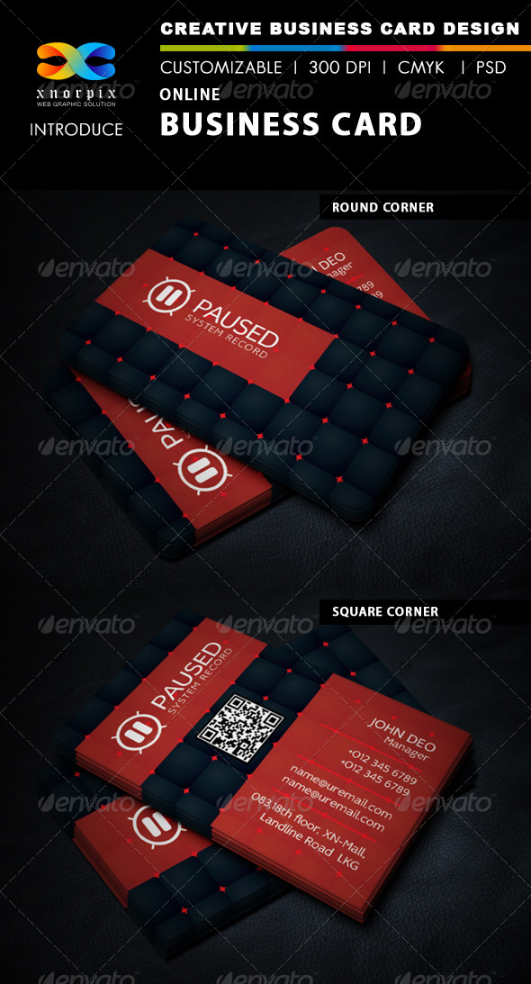 GraphicRiver Online Business Card 6374482
