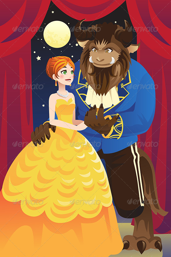 GraphicRiver Beauty and the Beast 6374848