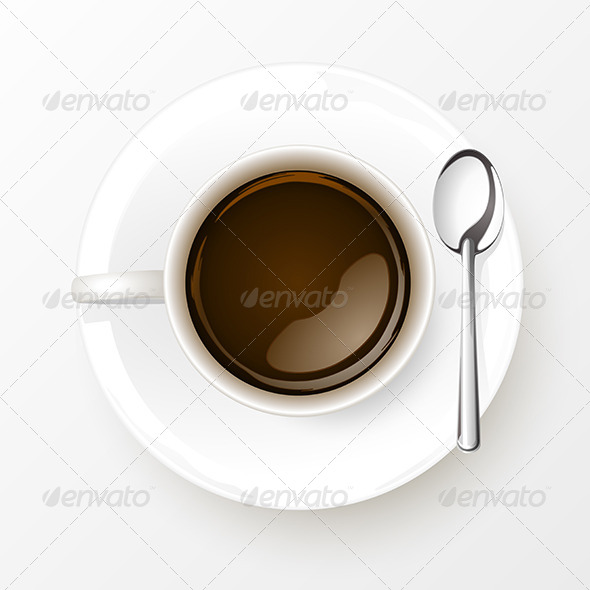 GraphicRiver Cup of Coffee with Spoon 6375053