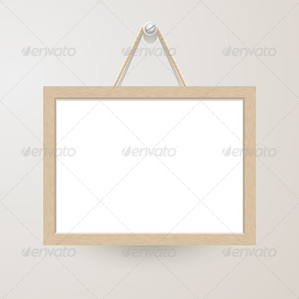 GraphicRiver White Board Hanging on a Nail 6375145
