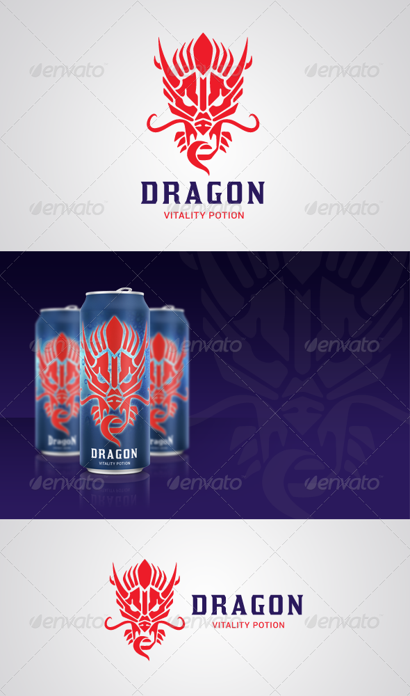 GraphicRiver Dragon Vitality Potion Logo 6375233