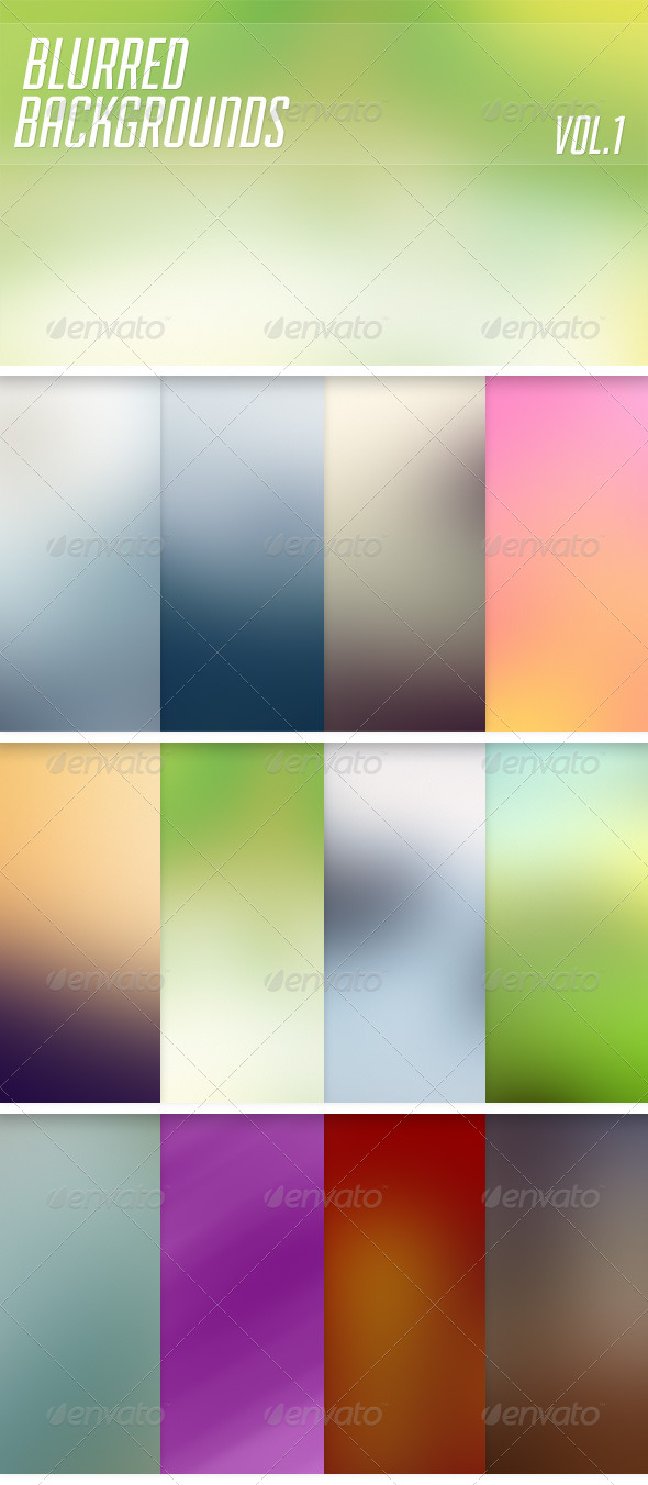 GraphicRiver Blurred Backgrounds Vol1 6371677