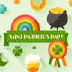 Saint Patrick's Day Backgrounds and Icons. - GraphicRiver Item for Sale