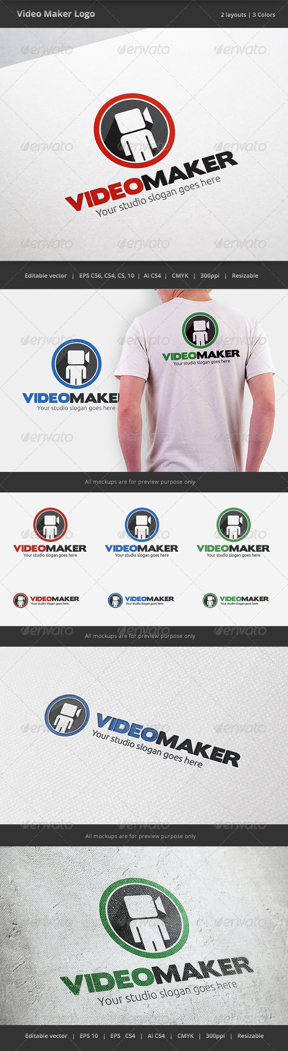 GraphicRiver Video Maker Logo 6379013