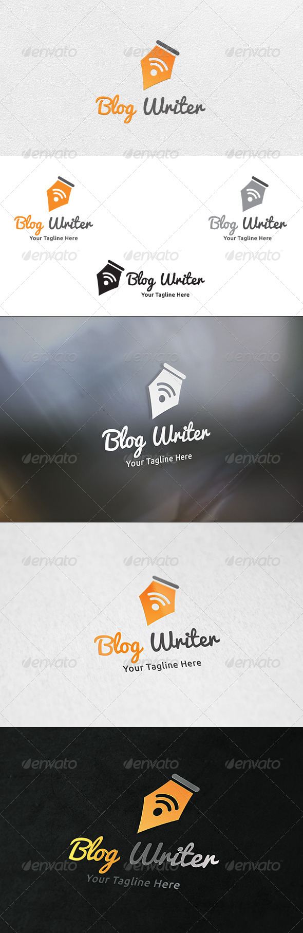 GraphicRiver Blog Writer Logo Template 6379189