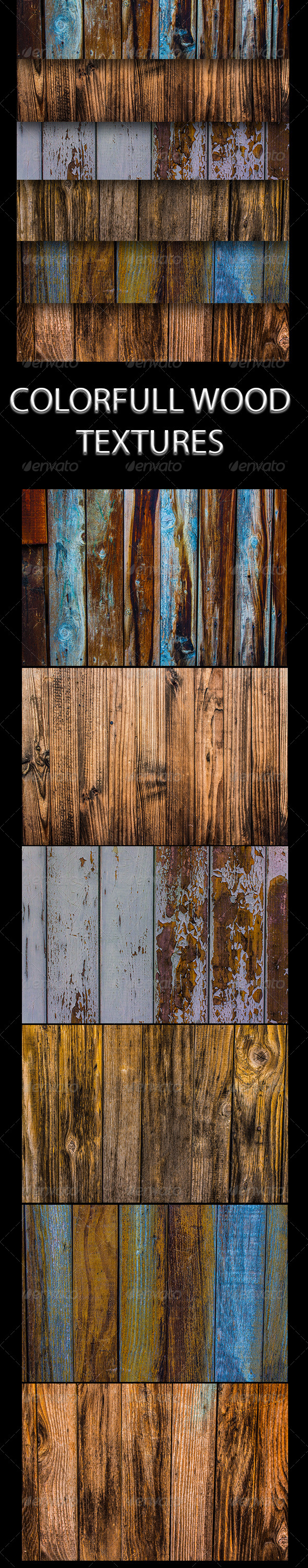 GraphicRiver Colorfull Wood Textures 6379391