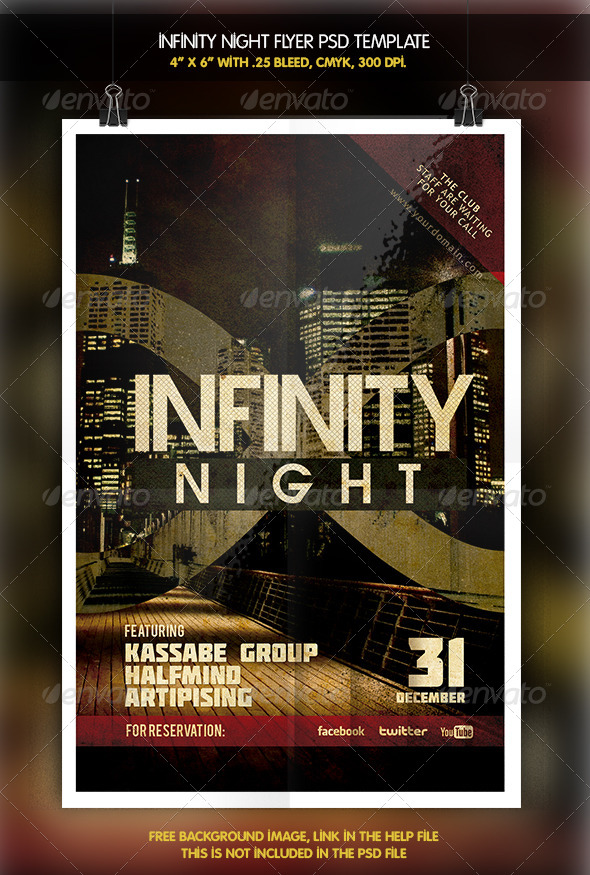 GraphicRiver Infinity Night Flyer 6333851