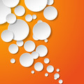 Abstract white paper circles on orange background - PhotoDune Item for Sale