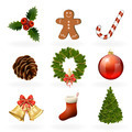 Christmas design elements and icons. Xmas decorations set - PhotoDune Item for Sale