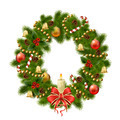 Christmas wreath on white background. Xmas decorations - PhotoDune Item for Sale