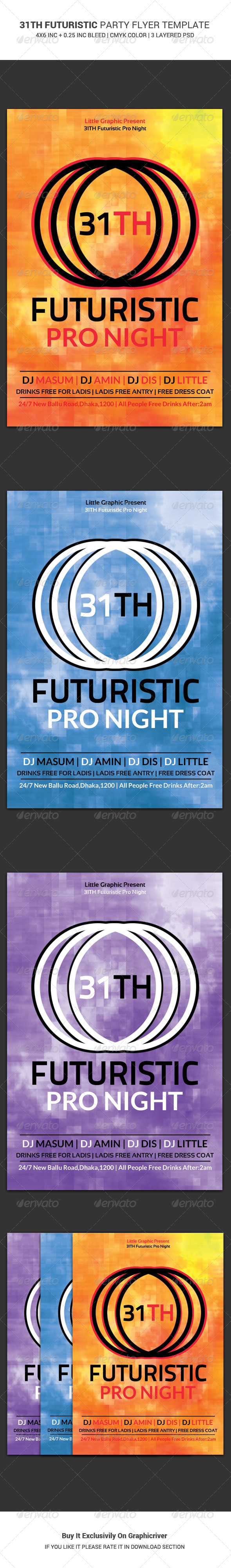 GraphicRiver 31th Futuristic Party Flyer Template 6380530