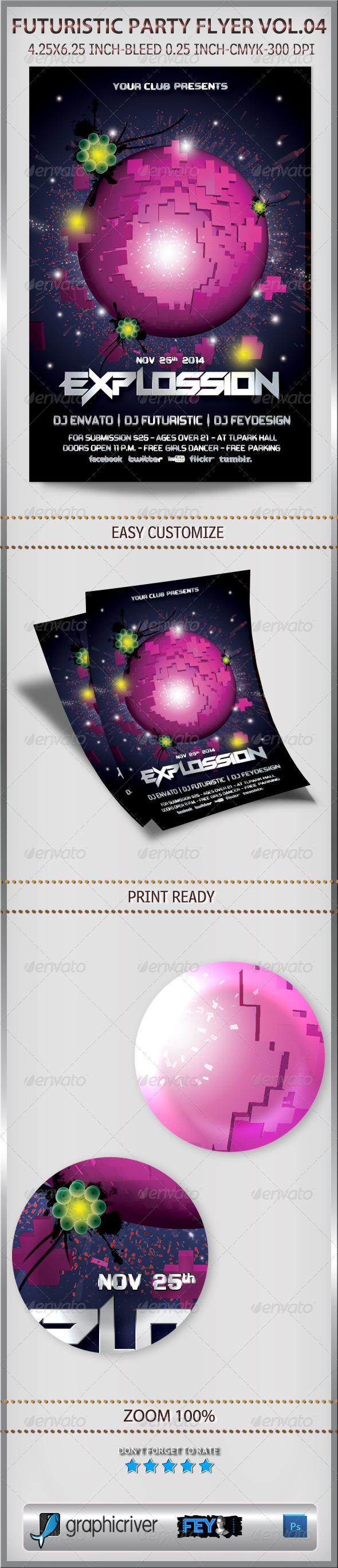 GraphicRiver Futuristic Party Flyer Vol.04 6380910