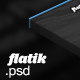 Flatik - PSD Template - ThemeForest Item for Sale