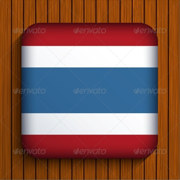 GraphicRiver Vector Flag Icon on Wooden Background 6381178