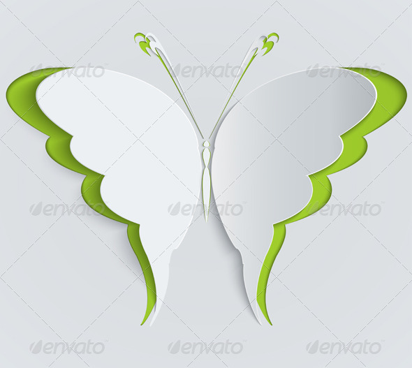 GraphicRiver Paper Butterfly 6382663