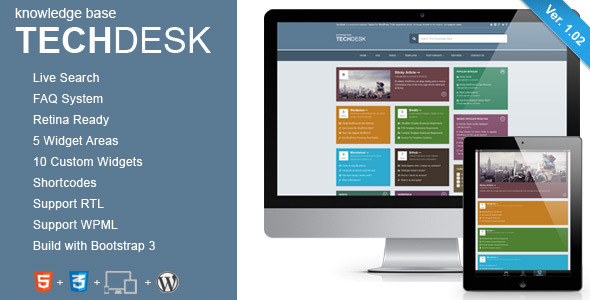TechDesk - Responsive Knowledge Base/FAQ Theme - Title Theme