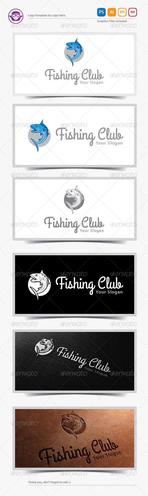 GraphicRiver Fishing Club Logo Template 6383185
