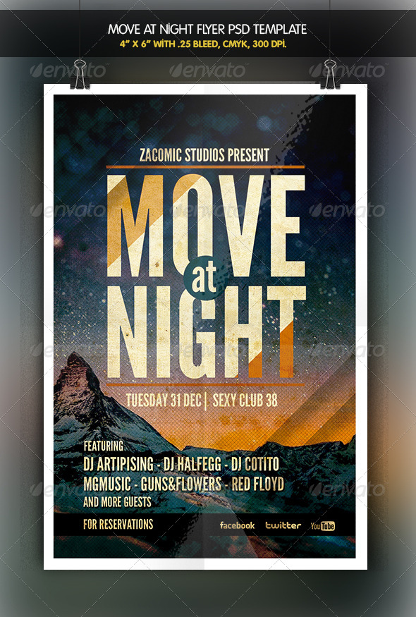 GraphicRiver Move at Night Flyer Template 6347812