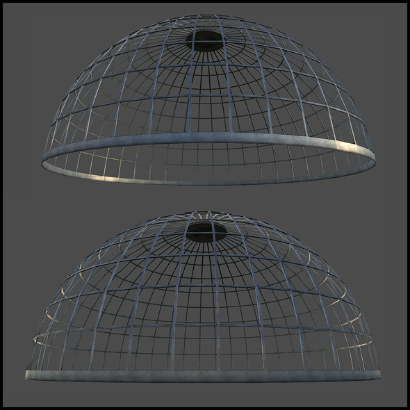 3DOcean Metal Dome Structure 6383631