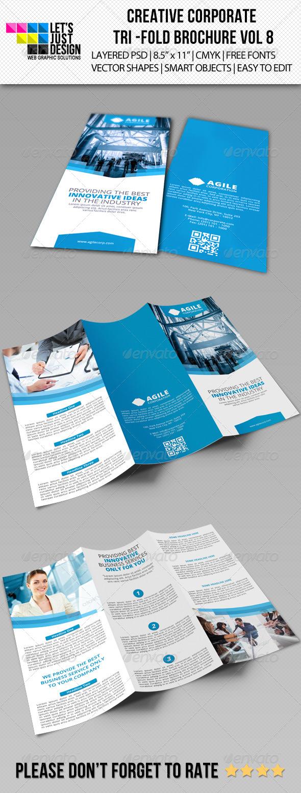 GraphicRiver Creative Corporate Tri-Fold Brochure Vol 8 6383669