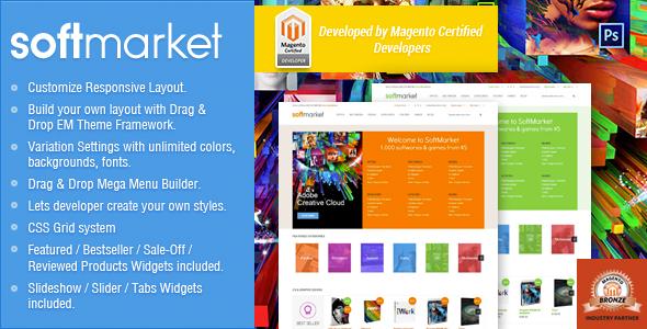 ThemeForest Responsive Magento Theme Gala SoftwareMarket 6384061