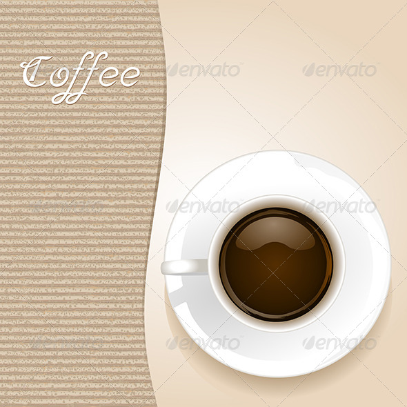 GraphicRiver Cup of Coffee on Brown Background 6384087