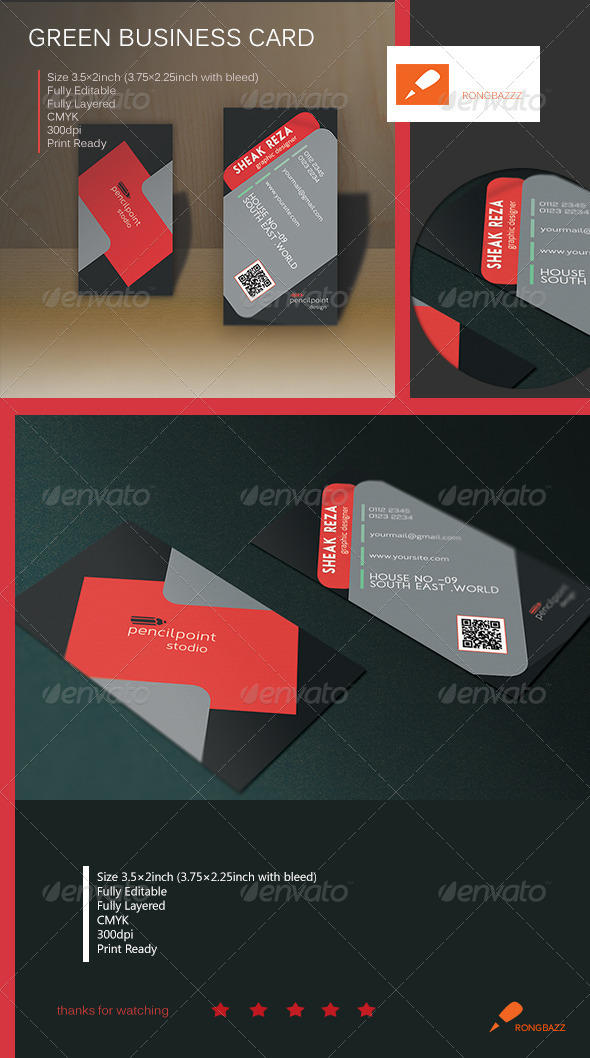 Creative Vertical Business Card 1.0 - Creative Business Cards