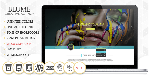 ThemeForest Blume Responsive WordPress Theme 6381615