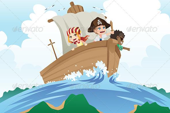 GraphicRiver Pirates Kids 6385112