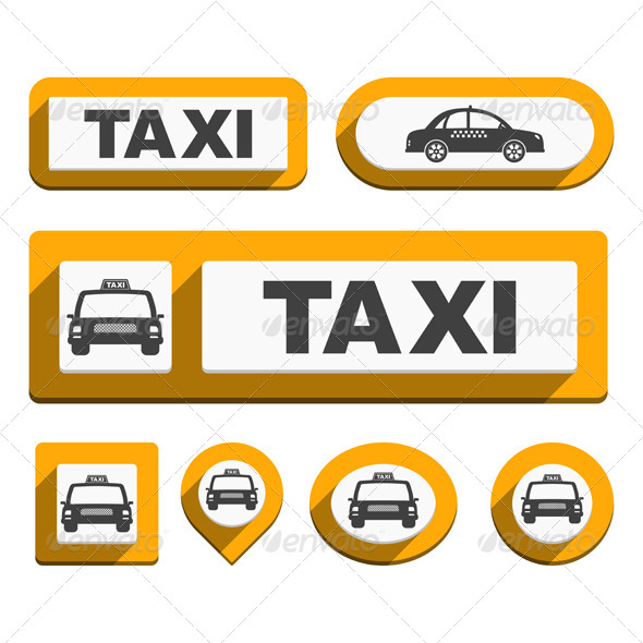 GraphicRiver Taxi Buttons and Icons 6385156