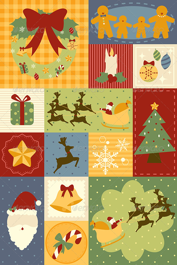 GraphicRiver Christmas Decoration Wallpaper 6385439
