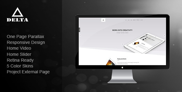 Delta – Responsive One Page Parallax Template (Creative) images