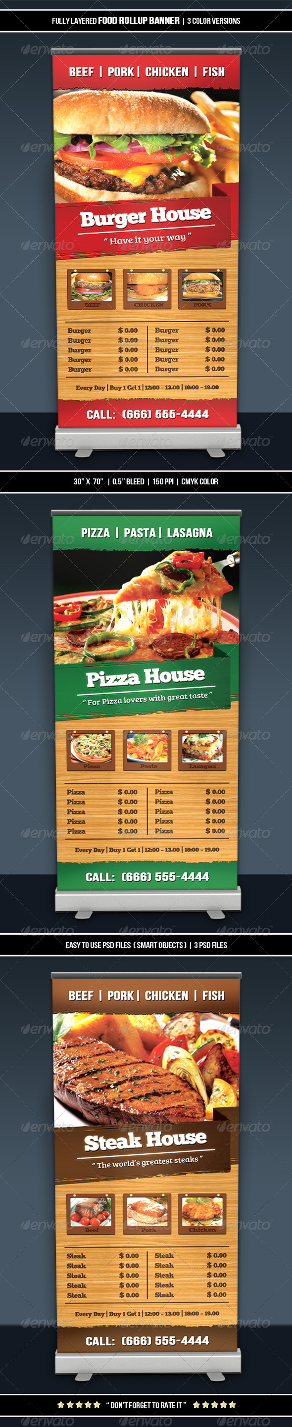 GraphicRiver Food Roll-up Banner 6343171