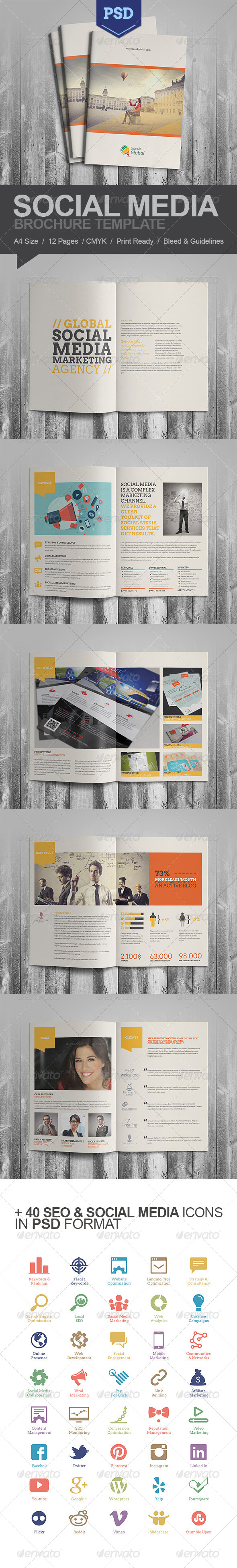 GraphicRiver Social Media A4 Brochure 6386288