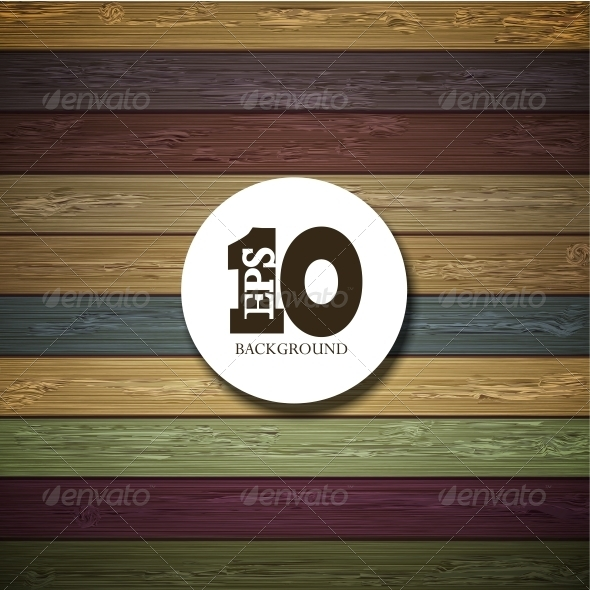 GraphicRiver Vector Colorful Wooden Background 6386327