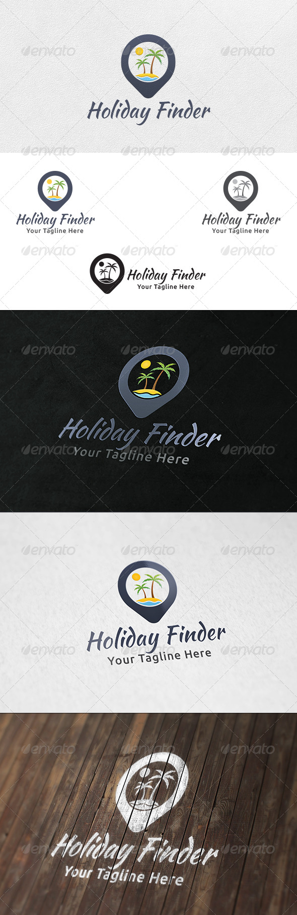GraphicRiver Holiday Point Logo Template 6386693