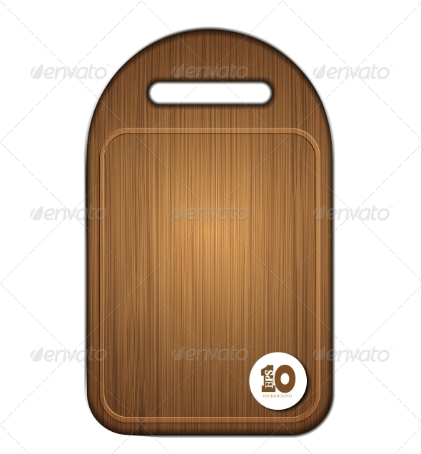 GraphicRiver Vector Wooden Cutting Board 6386822
