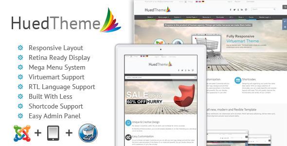 ThemeForest HuedTheme Responsive Virtuemart Joomla Template 6386948