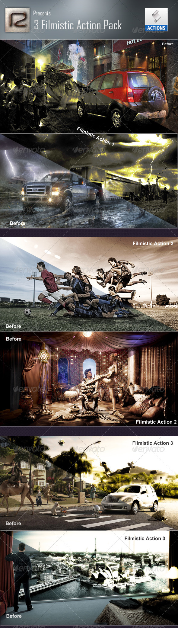 GraphicRiver Filmistic action set 6387134