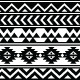 Aztec Tribal Seamless Black and White Pattern - GraphicRiver Item for Sale
