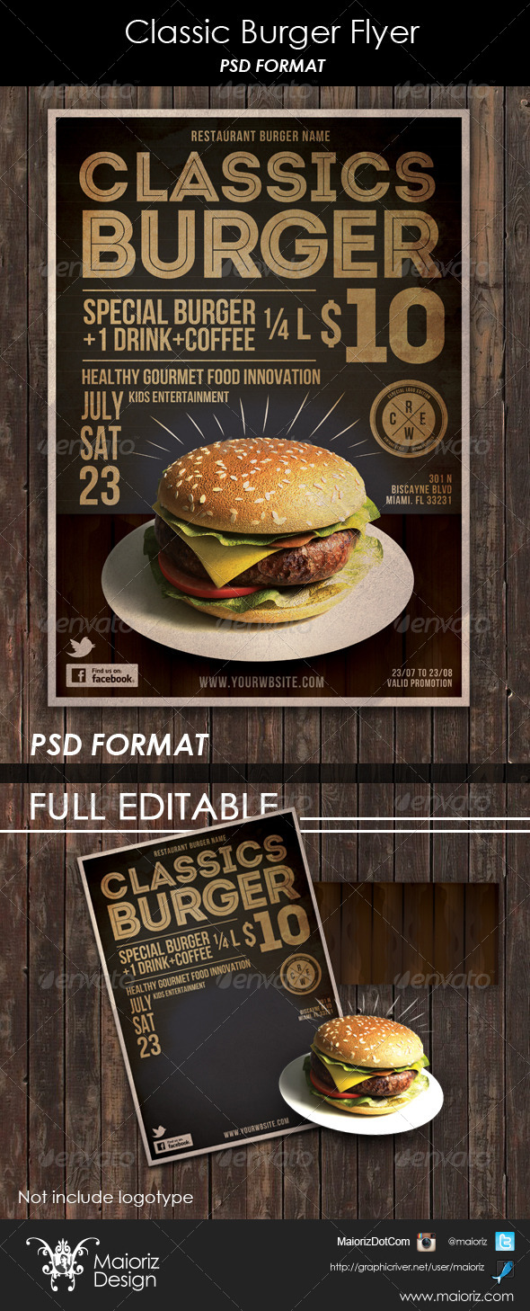 GraphicRiver Classic Burger Flyer 6357311