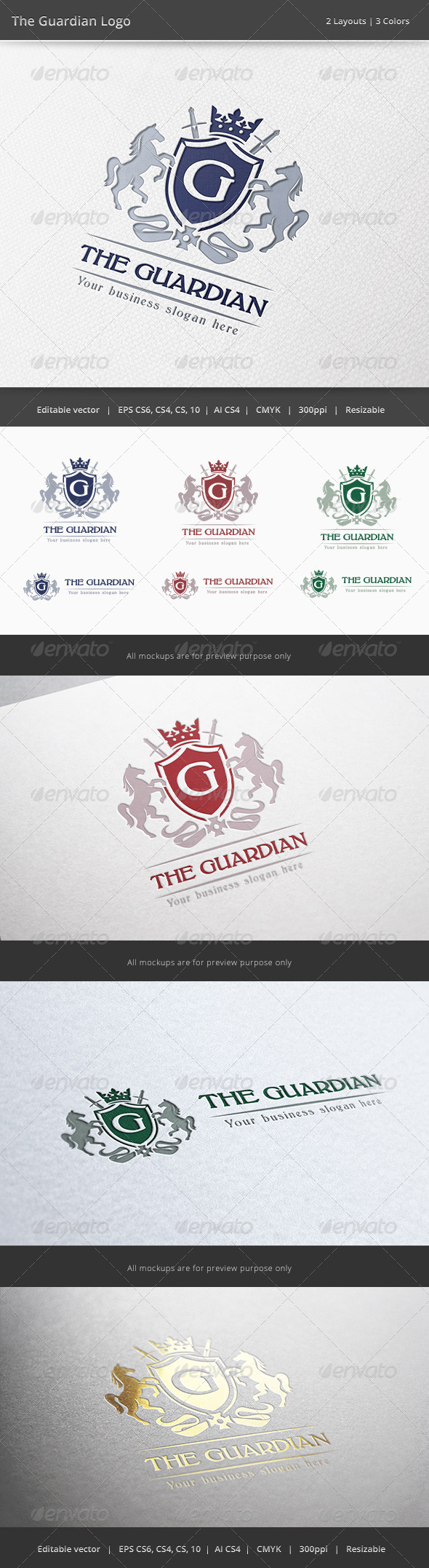 GraphicRiver The Guardian Letter Crest Logo 6387808