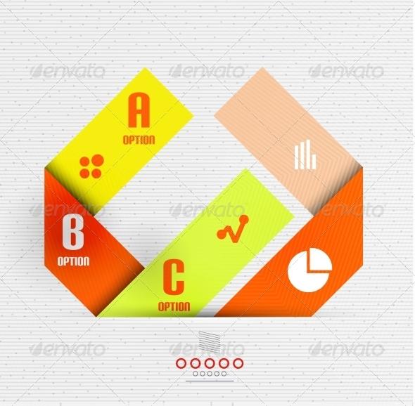 GraphicRiver Stripes Option Infographic Design Template 6388062