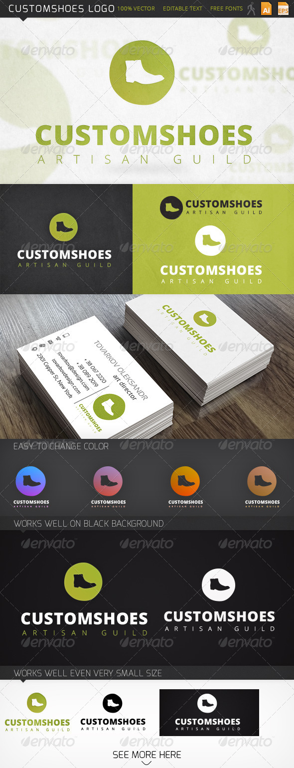 GraphicRiver Customshoes Logo 6388088