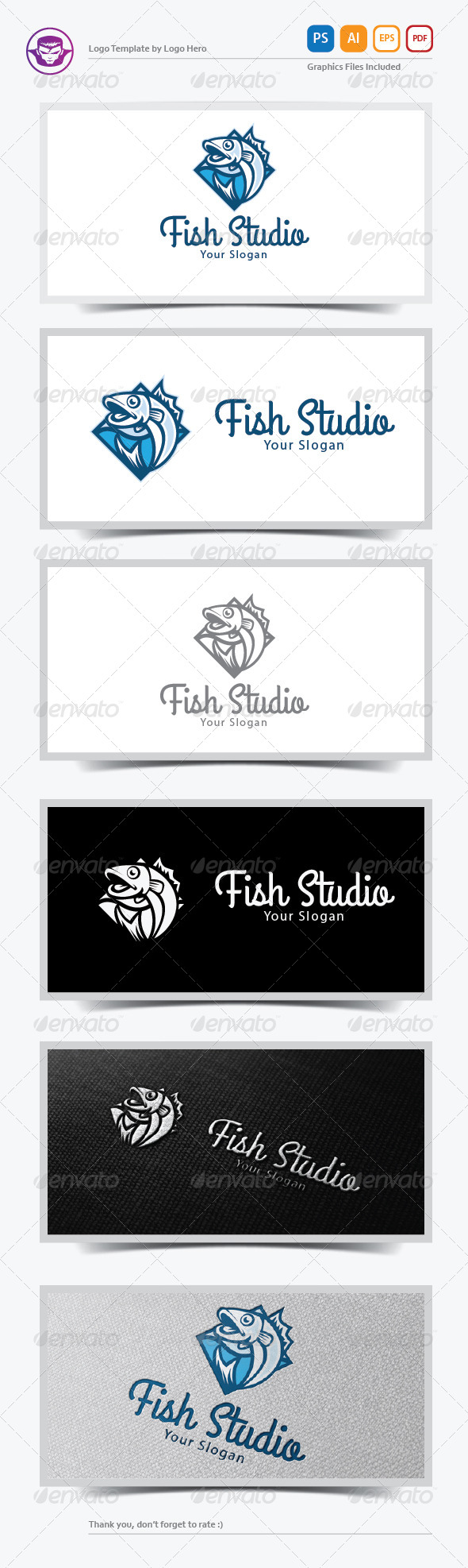GraphicRiver Fish Studio Logo Template 6383502