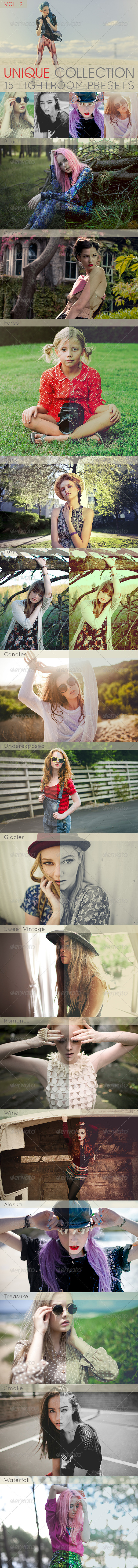 GraphicRiver 15 Unique Lightroom Presets Vol.2 6383207