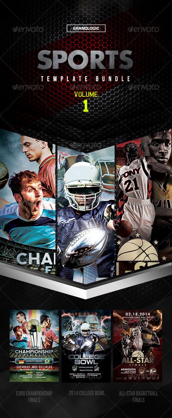 GraphicRiver Sports Bundle Vol 1 6389642