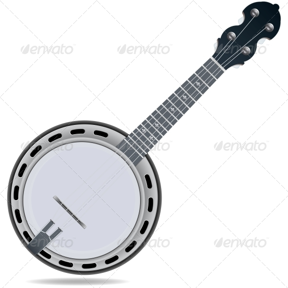 GraphicRiver Banjo Fiddle Instrument 6389684