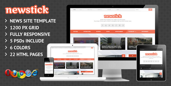 Newstick Responsive News & Magazine Template