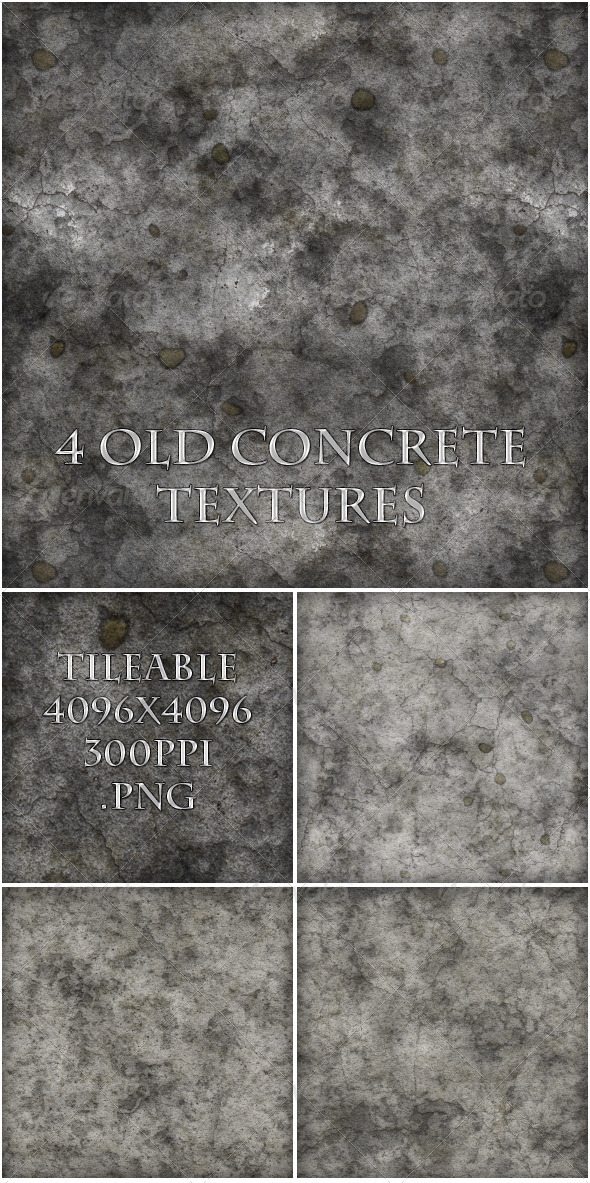 GraphicRiver 4 Old Concrete Textures 6390372